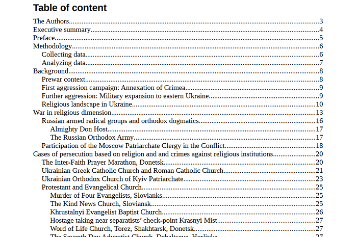 Звіт «Truth Hounds»: в окупованих Донбасі і Криму релігійне різноманіття звужують до домінування однієї УПЦ (МП)