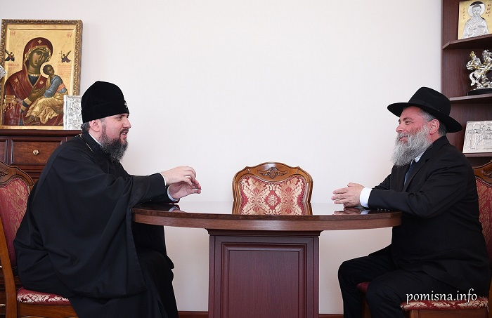 Глава ПЦУ обговорив релігійну ситуацію в країні з екс-президентом, головним рабином Києва і послом Іспанії