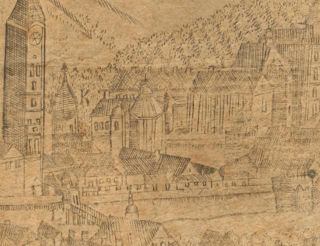 Знайшлося зображення костелу, розкопаного на Галицькій площі у Львові