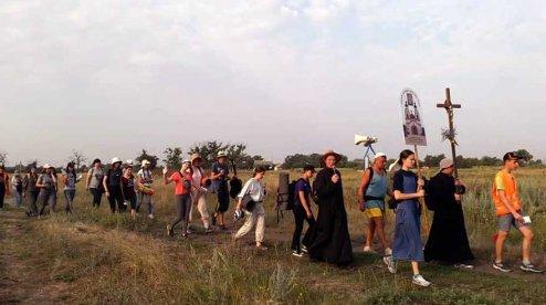 Молоді католики пройшли 200 км прощі Мелітополь – Запоріжжя