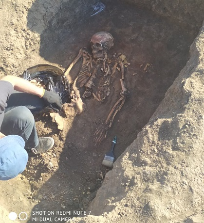 На Кіровоградщині археологи розкопали курган епохи бронзи з рештками сучасників біблійного Мойсея