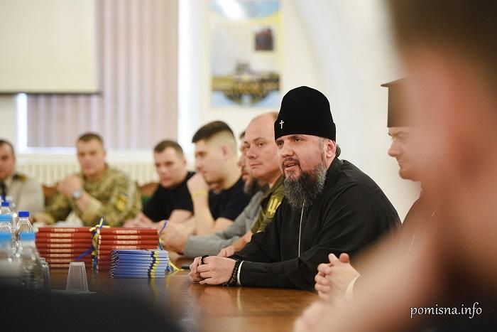 Глава ПЦУ зустрівся з визволеними з російського полону моряками