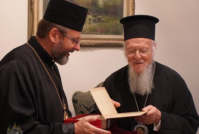Глава УГКЦ і Вселенський патріарх Варфоломій обговорили ситуацію в Україні та екуменічні відносини