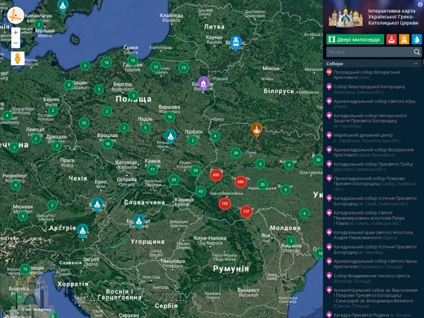 Інтерактивна карта УГКЦ налічує 2885 об