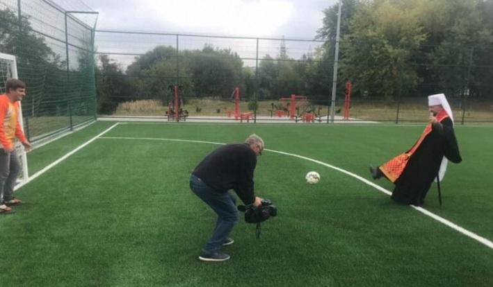 У Львівській семінарії УГКЦ відкрили футбольне поле