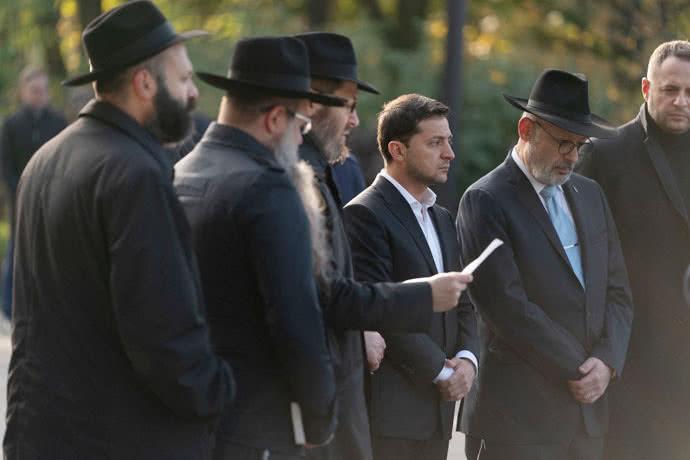 Зеленський з рабинами нарешті офіційно вшанував пам