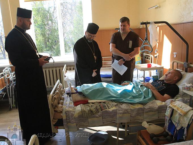 Глава УГКЦ відвідав військовий госпіталь у Києві