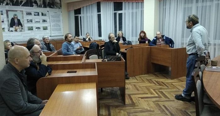 Пінхас Полонський виступив у Відкритому православному університеті Києва