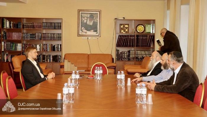 Рабин презентував очільнику Дніпропетровщини проєкт комплексу «Байт Машиах»