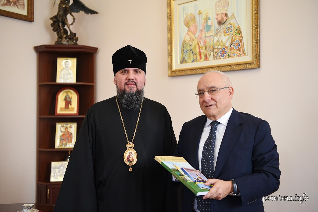 Митрополит Епіфаній і посол Греції обговорили перспективи розвитку ПЦУ
