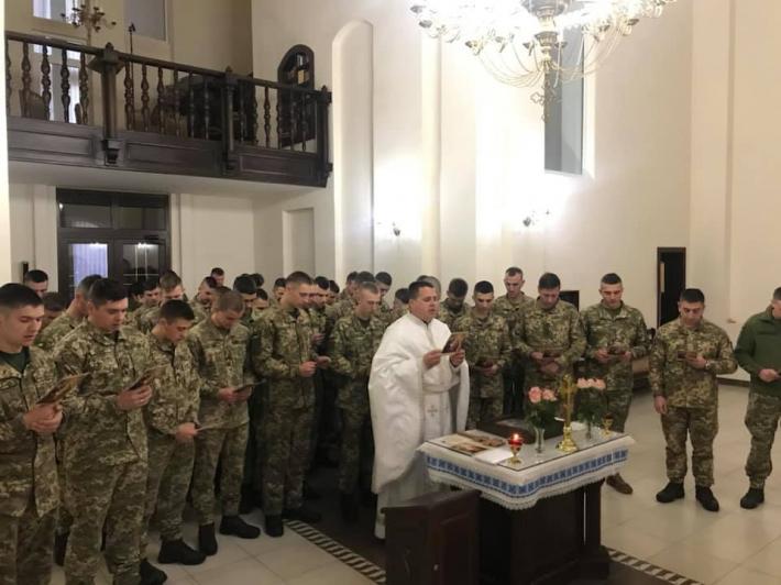 Курсанти академії сухопутних військ стали паломниками УГКЦ