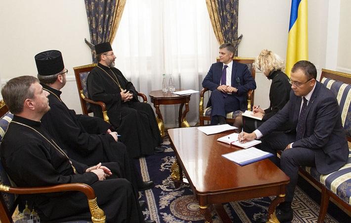 Глава МЗС високо оцінює внесок УГКЦ в об'єднавчі процеси в Україні та за її межами