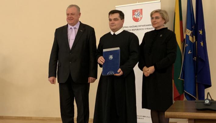 Прем'єр-міністр Литви нагородив настоятеля храму УГКЦ у Вільнюсі