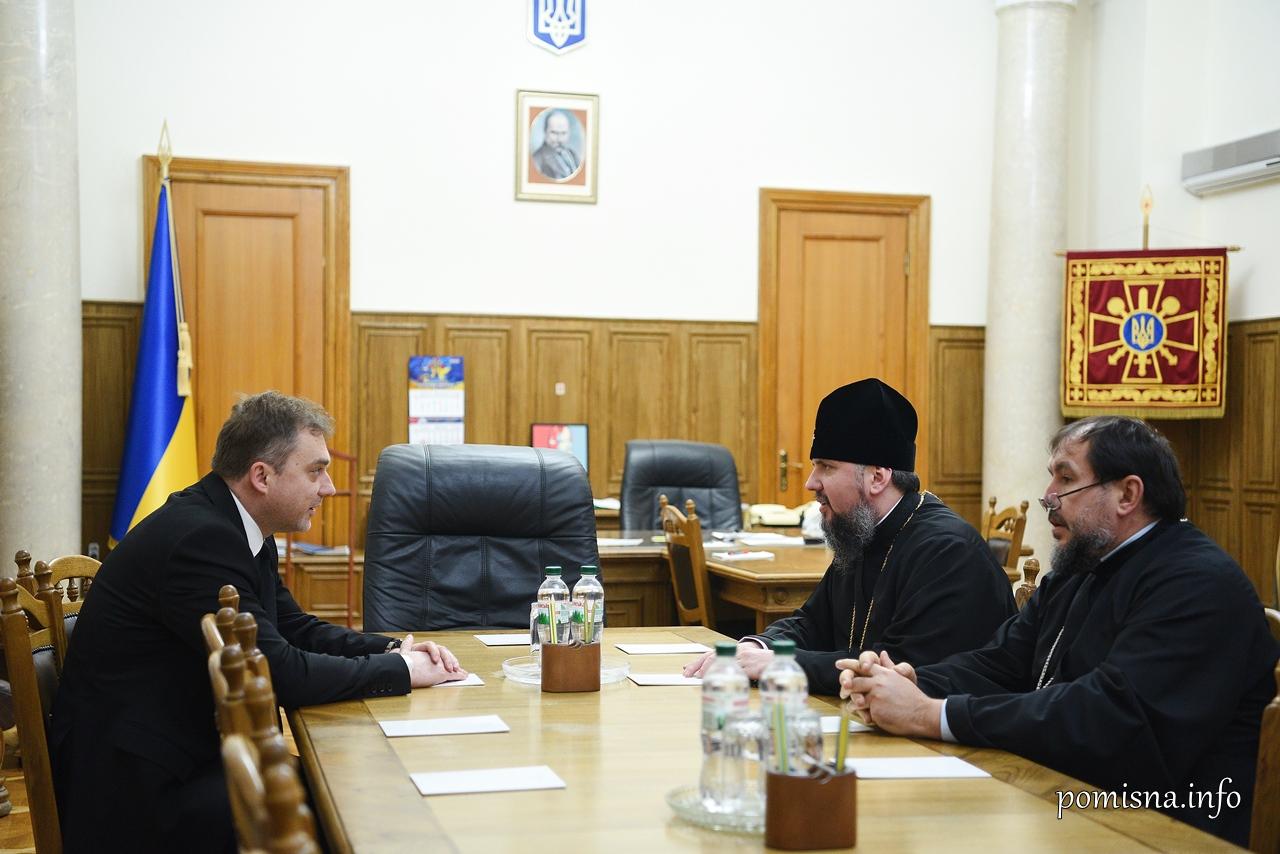 Глава ПЦУ та міністр оборони обговорили спільні проєкти