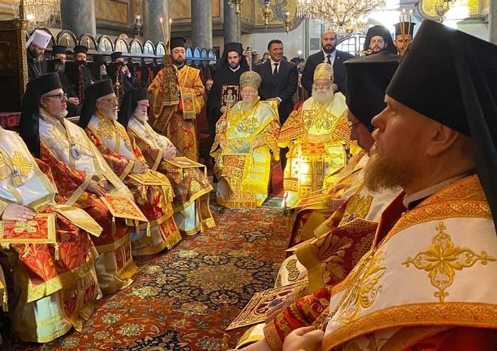 Архієреї ПЦУ співслужили ієрархам Кіпрської, Константинопольської, Олександрійської Церков