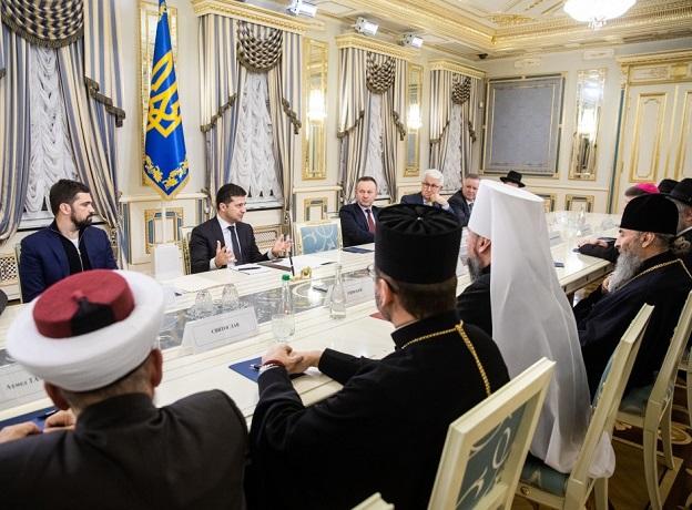 Рада Церков обговорила з президентом Зеленським перелік питань, які її турбують