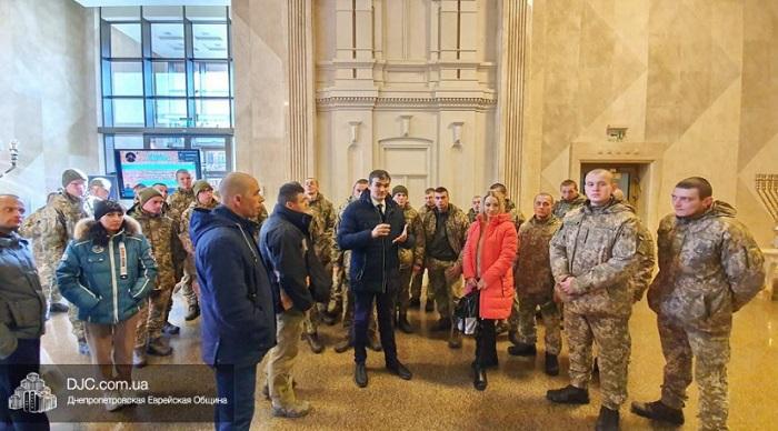 Військовослужбовці ЗСУ відвідали «Менору» і Єврейський музей
