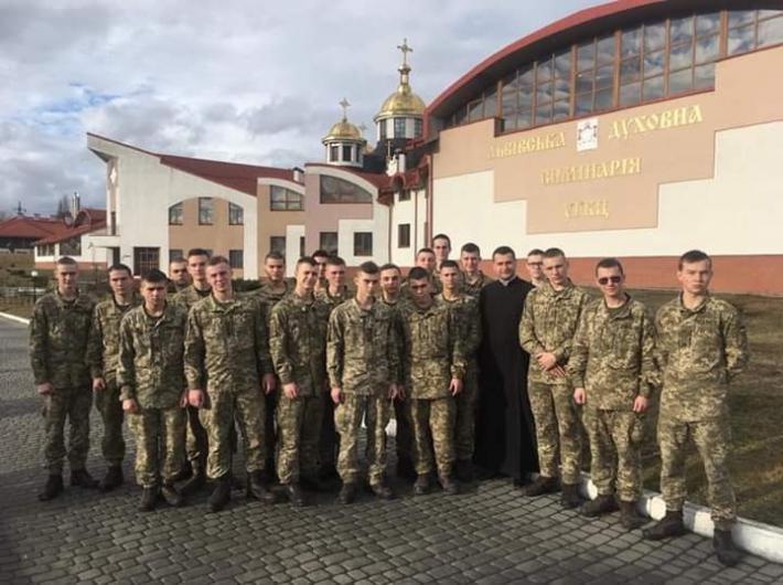 Курсанти академії сухопутних військ гостювали у студентів Львівської семінарії УГКЦ