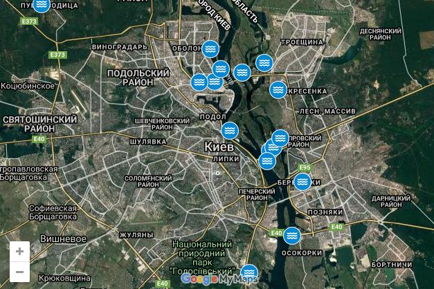 На Водохреща у Києві облаштували 16 локацій