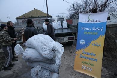 Нужденним мусульманам Херсонщини роздали 35 тонн вугілля і 30 тонн дров