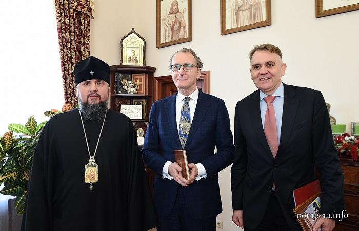 Глава ПЦУ обговорив в послом Нідерландів міжконфесійні та церковно-державні відносини