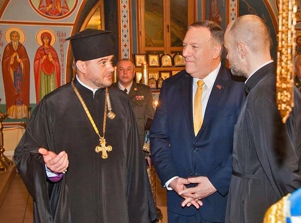 Держсекретар США відвідав церкву Київського військового госпиталю