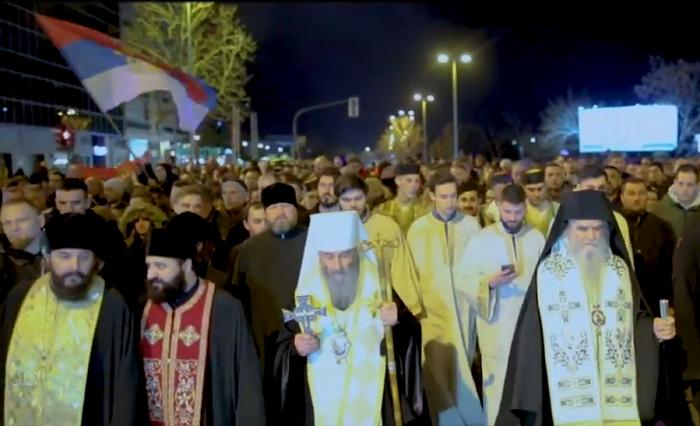 Глава УПЦ (МП) взяв участь у протестах проти уряду Чорногорії