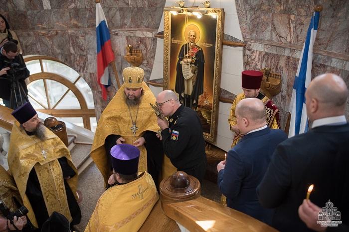 Священники УПЦ (МП) отметили годовщину «Русской весны» и провели молебны на сторожевых кораблях РФ