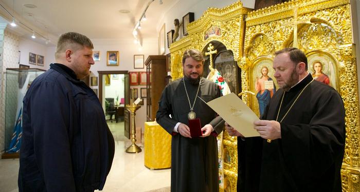 Військовий прокурор одержав відзнаку Переяславсько-Вишневської єпархії ПЦУ