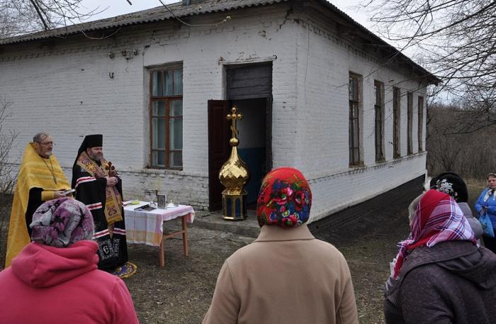 На Харківщині освятили та встановили хрест і купол храму ПЦУ