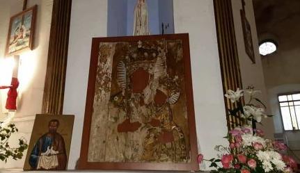 На Тернопільщині знайшли старовинний оклад-оздобу образу, ймовірно, Гусятинської Матері Божої