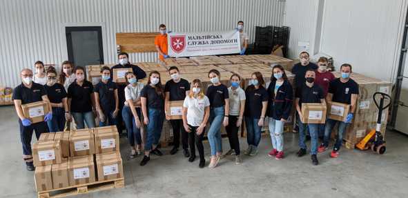 Католицька Мальтійська служба допомоги зібрала продуктів на 400 тис. грн. для потребуючих івано-франківців