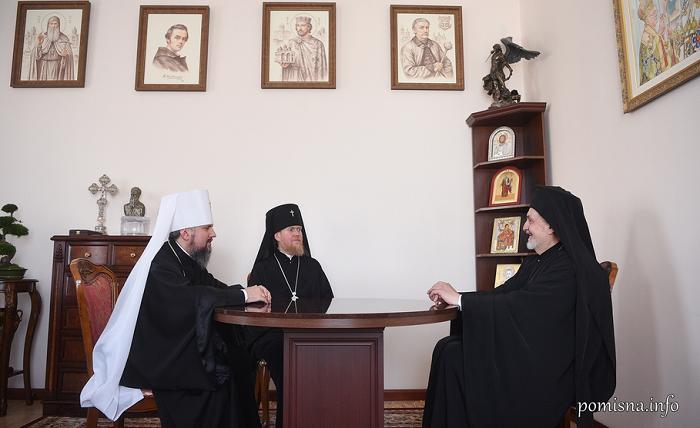 Глава ПЦУ обговорив з представником Вселенського Патріархату міжправославні та інші питання
