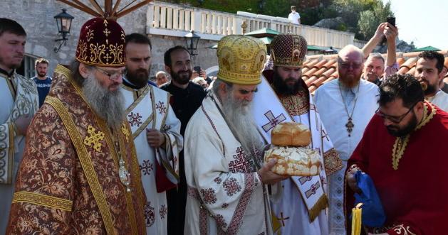 Єпископи УПЦ (МП) відвідали Чорногорію і співслужили сербському митрополиту