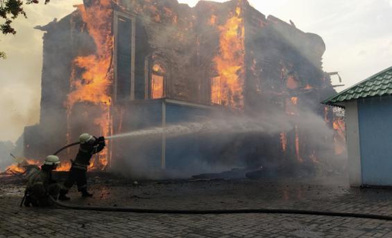 На Полтавщині сгоріла церква ПЦУ