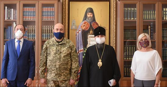 Глава ПЦУ обговорив з заступником секретаря РНБО проєкти про оборону України і військове капеланство