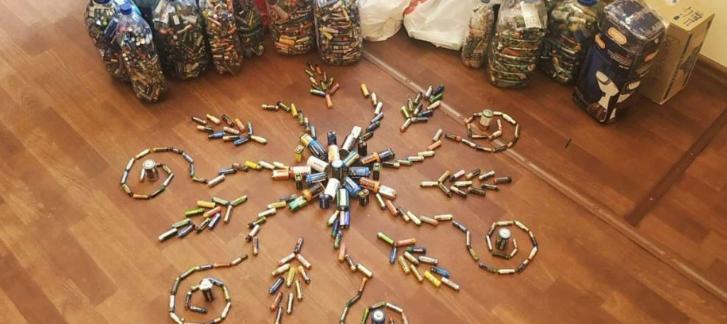 Запорізька єпархія УПЦ (МП) оплатила утилізацію 200 кг батарейок