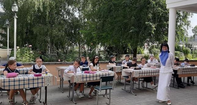 В єврейській школі Дніпра частина уроків проходить просто неба