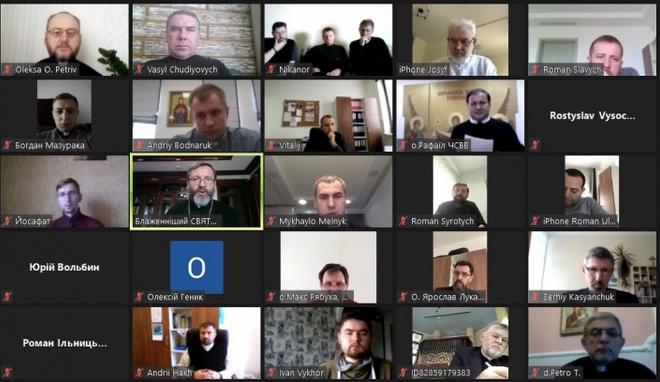 Глава УГКЦ обговорив з духовенством Київської архиєпархії служіння в умовах пандемії та поведінку духовенства під час виборів
