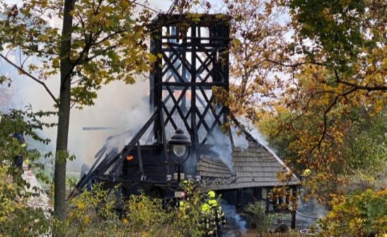 В Чехії згоріла дерев