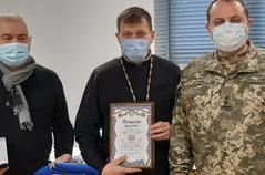 Священник ПЦУ отримав відзнаку оперативного командування «Захід»