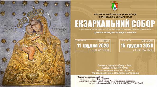 Для 120 тисяч українців-католиків Італії проведуть перший Екзархальний собор