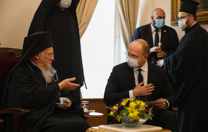 Прем'єр-міністр України подякував патріарху Варфоломію за надання автокефалії ПЦУ