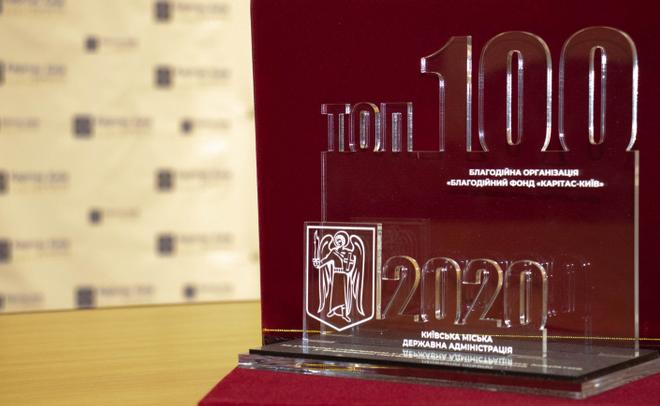 Благодійний фонд УГКЦ отримав відзнаку «ТОП-100» серед найкращих проєктів громадських організацій Києва