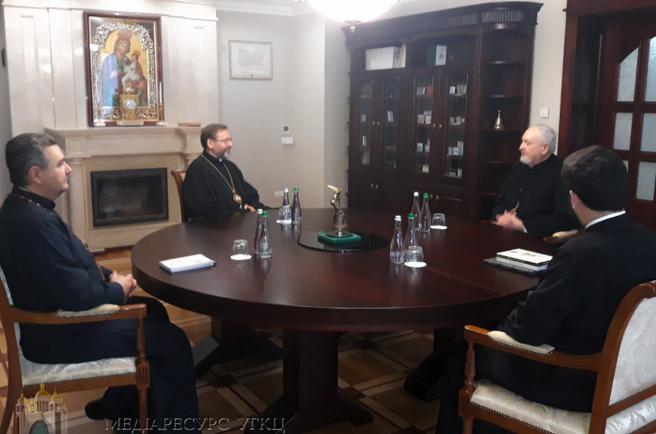 Глава УГКЦ обговорив з делегацією Константинопольського Патріархату стан екуменічного діалогу