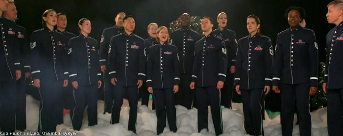 Військовий оркестр США привітав українців з Різдвом