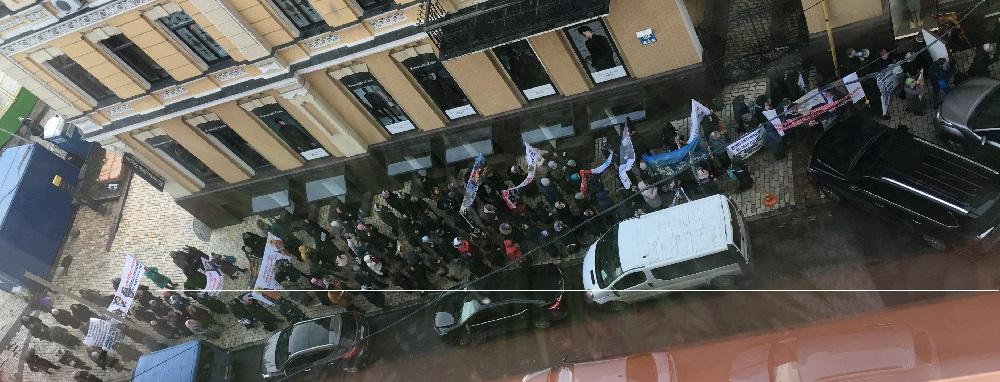 Віряни УПЦ (МП) провели демонстрацію проти патріарха Варфоломія і президента України