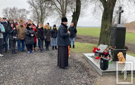 Священник УГКЦ звершив панахиду на місці аварії лідера групи «Скрябін»