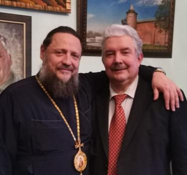 Єпископ УПЦ (МП) провів у Москві зустріч з ідеологом «воссоздания великого русского государства»