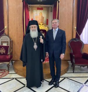 Єрусалимський патріарх і посол України домовились організувати виставку реліквій, пов